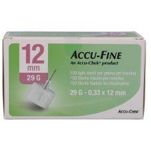 AGO ACCU-FINE G29 12MM 100 PEZZI Aghi per insulina