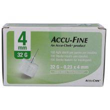 AGO ACCU-FINE G32 4MM 100 PEZZI Aghi per insulina