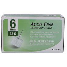 AGO ACCU-FINE G32 6MM 100 PEZZI Aghi per insulina