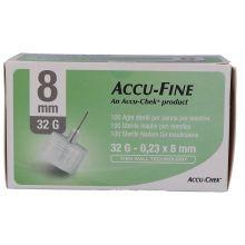 AGO ACCU-FINE G32 8MM 100 PEZZI Aghi per insulina