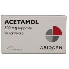 Acetamol 10 Supposte 500 mg 023475078 Paracetamolo