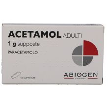 Acetamol Adulti 10 Supposte 1 g 023475066 Paracetamolo