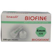 Ago Linea D Biofine G32 4mm 100 Pezzi Aghi per insulina