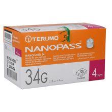 Ago Nanopass G34 4mm 100 Pezzi Aghi per insulina