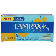 Assorbenti interni Tampax Camomile Senza Applicatore Normal 16 Pezzi  Assorbenti interni