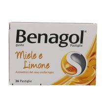 Benagol 36 Pastiglie Miele E Limone 016242149  Farmaci per mal di gola