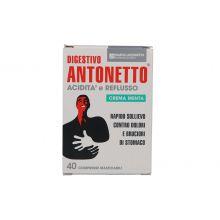 DIGESTIVO ANTONETTO ACIDITÀ E REFLUSSO AROMA MENTA 40 COMPRESSE MASTICABILI Regolarità intestinale e problemi di stomaco