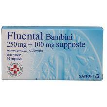 Fluental 10 Supposte Bambini 250mg+100mg Farmaci per curare  raffreddore e influenza
