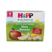 HIPP BIO FRUTTA GRATTUGIATA MELA E BANANA 2 X 80G Omogeneizzati di frutta