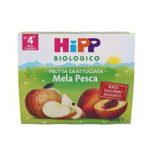 HIPP BIO FRUTTA GRATTUGIATA MELA E PESCA 4 X 100G Omogeneizzati di frutta