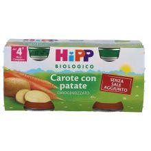 HIPP BIO OMOGENEIZZATO DI CAROTE E PATATE 2 X 80G Omogeneizzati di verdura