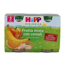 HIPP BIO OMOGENEIZZATO DI FRUTTA CON CEREALI 2 X 125G Omogeneizzati di frutta