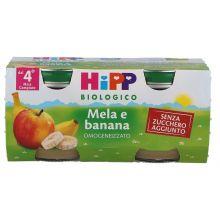 HIPP BIO OMOGENEIZZATO DI MELA E BANANA 2 X 80G Omogeneizzati di frutta