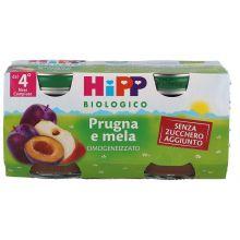 HIPP BIO OMOGENEIZZATO DI PRUGNA E MELA 2 X 80G Omogeneizzati di frutta