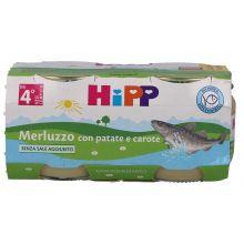 HIPP OMOGENEIZZATO DI MERLUZZO CON CAROTE E PATATE 2 X 80G Omogeneizzati di pesce