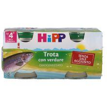 HIPP OMOGENEIZZATO DI TROTA CON VERDURE 2 X 80G Omogeneizzati di pesce