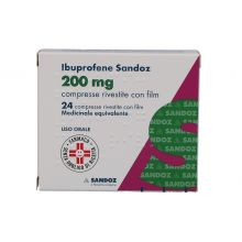 Ibuprofene Sandoz 24 Compresse Rivestite 200 mg 025636059 Ibuprofene