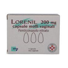 Lorenil 3 Capsule molli vaginali 200mg Capsule e ovuli