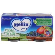 MELLIN OMOG MELA/MIRT 2X100G Omogeneizzati