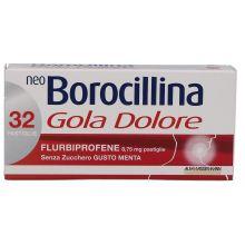 Neoborocillina Gola Dolore 32 Pastiglie Menta Senza Zucchero 035760065 Farmaci per mal di gola