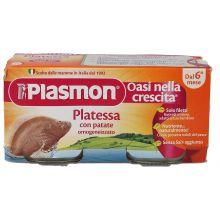 PLASMON OMOG PLATESSA 2X80G Omogeneizzati di pesce