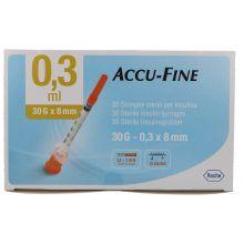 SIR INS ACCU-FINE 0,3ML G30 30 Siringhe per insulina