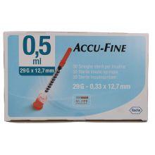 SIR INS ACCU-FINE 0,5G29 12,7 Siringhe per insulina