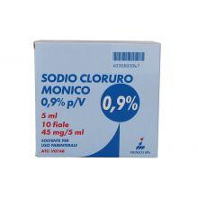 SODIO CLORURO*0,9% 10F 5ML Soluzioni fisiologiche