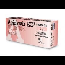 Aciclovir Eg* Crema 3G 5% Pomate, cerotti, garze e spray dermatologici