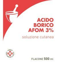 Acido Borico Afom 3% 500 ml Disinfettanti per la cute