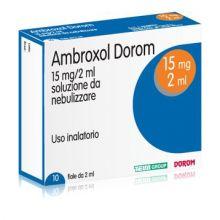 Ambroxol Dorom Soluzione Da Nebulizzare 10 Fiale 2 ml 15 mg 033965017 Mucolitici e fluidificanti