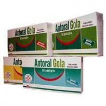 Antoral Gola 20 Pastiglie 5 mg Senza Zucchero Menta 023497151 Farmaci per mal di gola