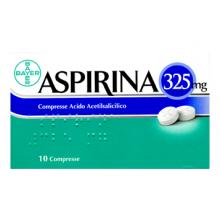 Aspirina 10 Compresse 325 mg 004763254 Farmaci per curare  raffreddore e influenza