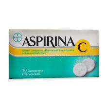 Aspirina C 10 Compresse Effervescenti 400mg+240mg004763114 Farmaci per curare  raffreddore e influenza