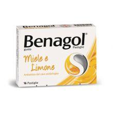 Benagol 16 Pastiglie Miele E Limone 016242240 Farmaci per mal di gola