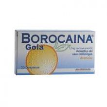 Borocaina Gola 20 Pastiglie 1,5 mg Arancia 032053011 Farmaci per mal di gola