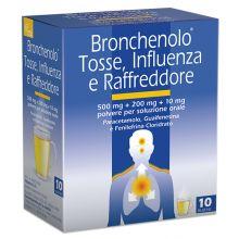 Bronchenolo Tosse, influenza e raffreddore 10 Bustine Farmaci per curare  raffreddore e influenza
