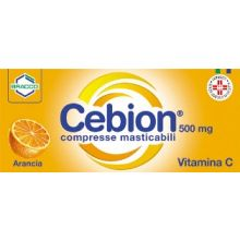 CEBION 500* 20 COMPRESSE MASTICABILI GUSTO ARANCIA Tonici, vitaminici e sali minerali
