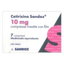 Cetirizina Sandoz 7 Compresse Rivestite 10 mg 037629019 Antistaminici
