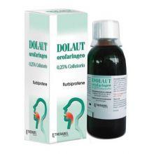Dolaut Orofaringeo Collutorio 150 ml 0,25% Antinfiammatori e anestetici per la bocca