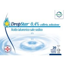 Dropstar Collirio 20 Flaconcini 0,5ml Colliri e Pomate Oftalmiche Idratanti