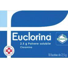 EUCLORINA* POLVERE SOLUBILE 10 BUSTINE DA 2,5G Disinfettanti per la cute