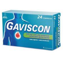 GAVISCON* 24 COMPRESSE MENTA 500MG + 267MG Antiacidi