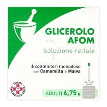GLICEROLO AFOM* 6 MICROCLISMI PER ADULTI DA 6,75G Lassativi