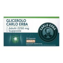 GLICEROLO CARLO ERBA* 18 SUPPOSTE PER ADULTI DA 2250MG Lassativi
