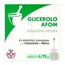 Glicerolo Afom 6 Microclismi Adulti 6,75g Lassativi