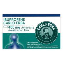 Ibuprofene Carlo Erba 10 Compresse 400 mg 029129069 Ibuprofene