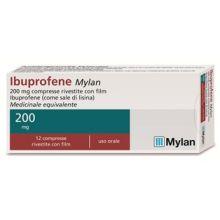 Ibuprofene Mylan 12 Compresse Rivestite 200 mg 042386058 Ibuprofene