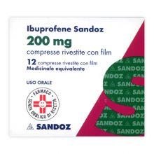 Ibuprofene Sandoz 12 Compresse Rivestite 200 mg 025636046 Ibuprofene