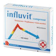 Influvit 16 Compresse 150mg+300mg+150mg 016281053  Farmaci per curare  raffreddore e influenza